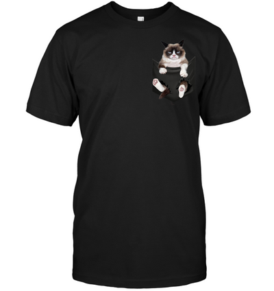 Grumpy Cat In Pocket T shirt