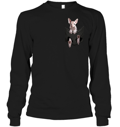 Sphynx Cat In Pocket T shirt