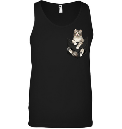 American Curl  Cat In Pocket T shirt