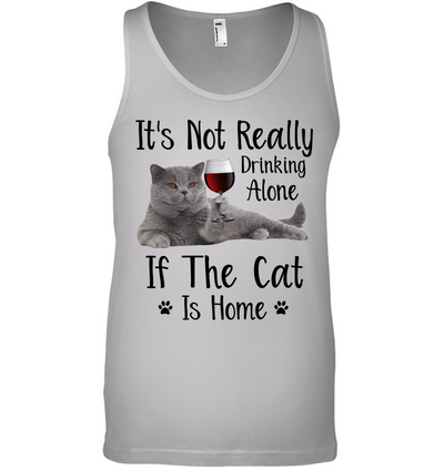 Not Drinking Alone Cat Tank-top