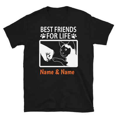 Tonkinese Cat- Personalized Best Friends T-shirts (Customizable Names)