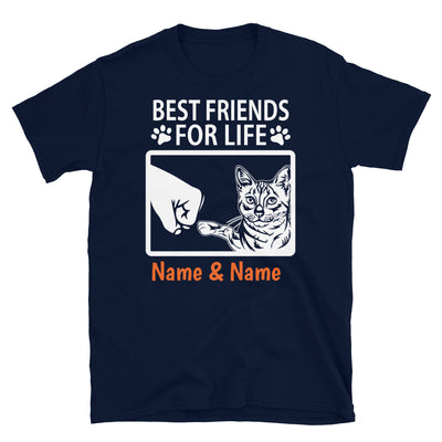 Egyptian Mau Cat - Personalized Best Friends T-shirts (Customizable Names)