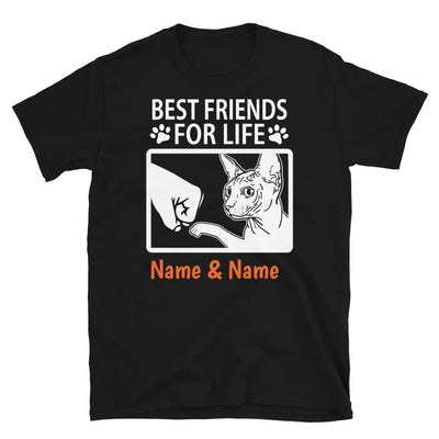 Sphynx Cat- Personalized Best Friends T-shirt (Customizable Names)