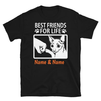 Cornish Rex Cat - Personalized Best Friends T-shirts (Customizable Names)
