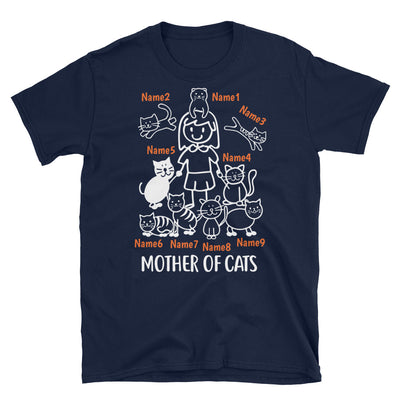9 Cats - Mother Of Cats Custom T-shirt