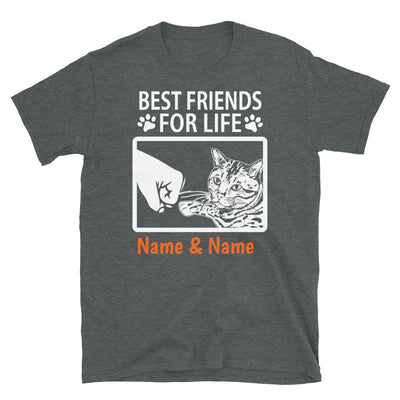 Bengal Cat - Personalized Best Friends T-shirts (Customizable Names)