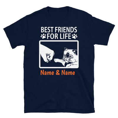 Himalayan Cat - Personalized Best Friends T-shirt (Customizable Names)