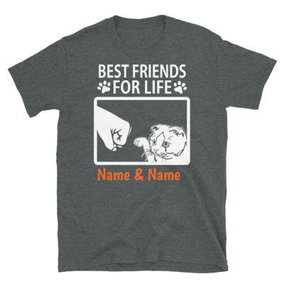 Scottish Fold Cat- Personalized Best Friends T-shirt (Customizable Names)