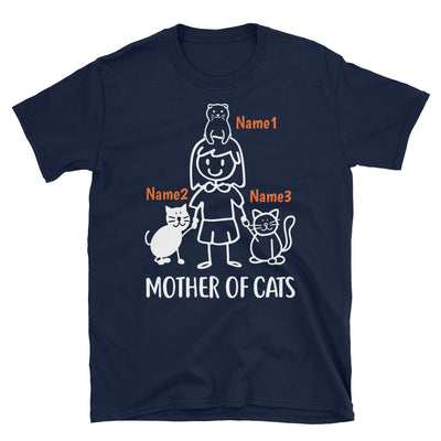 3 Cats - Mother Of Cats Custom T-shirt