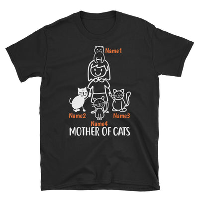 4 Cats - Mother Of Cats Custom T-shirt