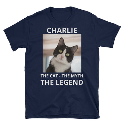 Custom Personalized Cat's Name & Photo Myth Legend T-shirt