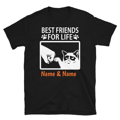 Grumpy Cat- Personalized Best Friends T-shirt (Customizable Names)