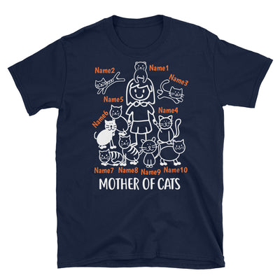 10 Cats - Mother Of Cats Custom T-shirt