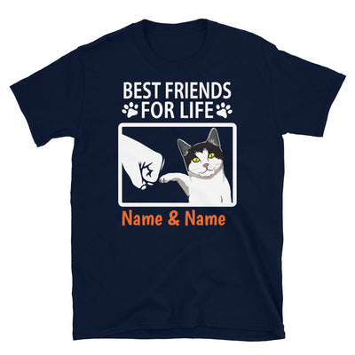 Tuxedo Cat - Personalized Best Friends T-shirt (Customizable Names)