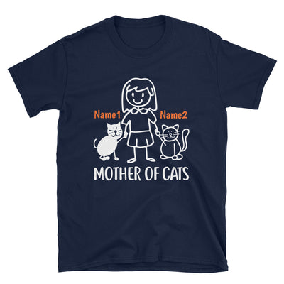 2 Cats - Mother Of Cats Custom T-shirt