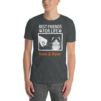 American Curl Cat - Personalized Best Friends T-shirt (Customizable Names)