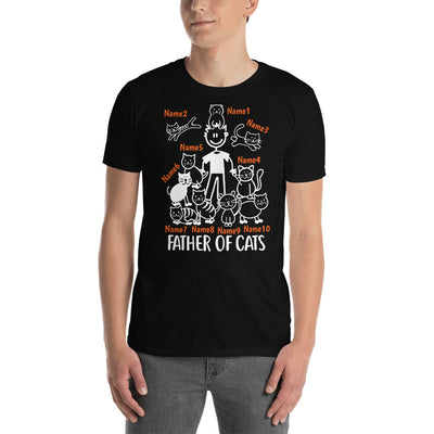 10 Cats - Father Of Cats Custom T-shirt