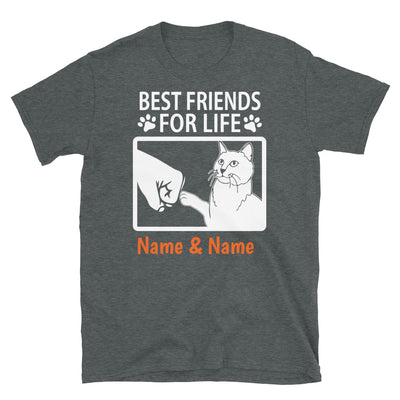 Chartreux Cat - Personalized Best Friends T-shirts (Customizable Names)