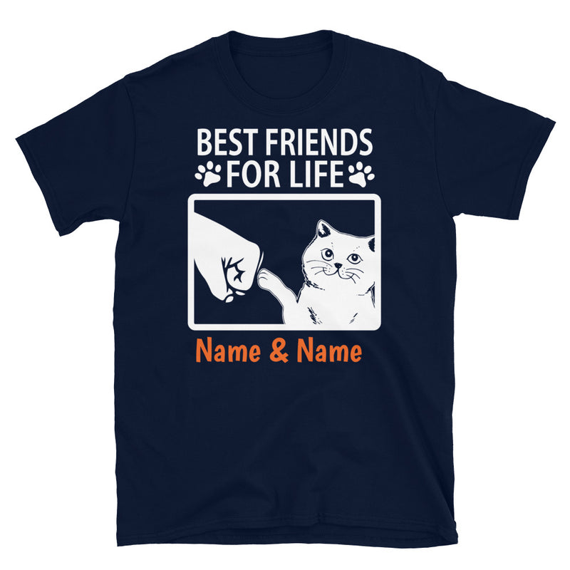British Shorthair Cat- Personalized Best Friends T-shirts (Customizable Names)