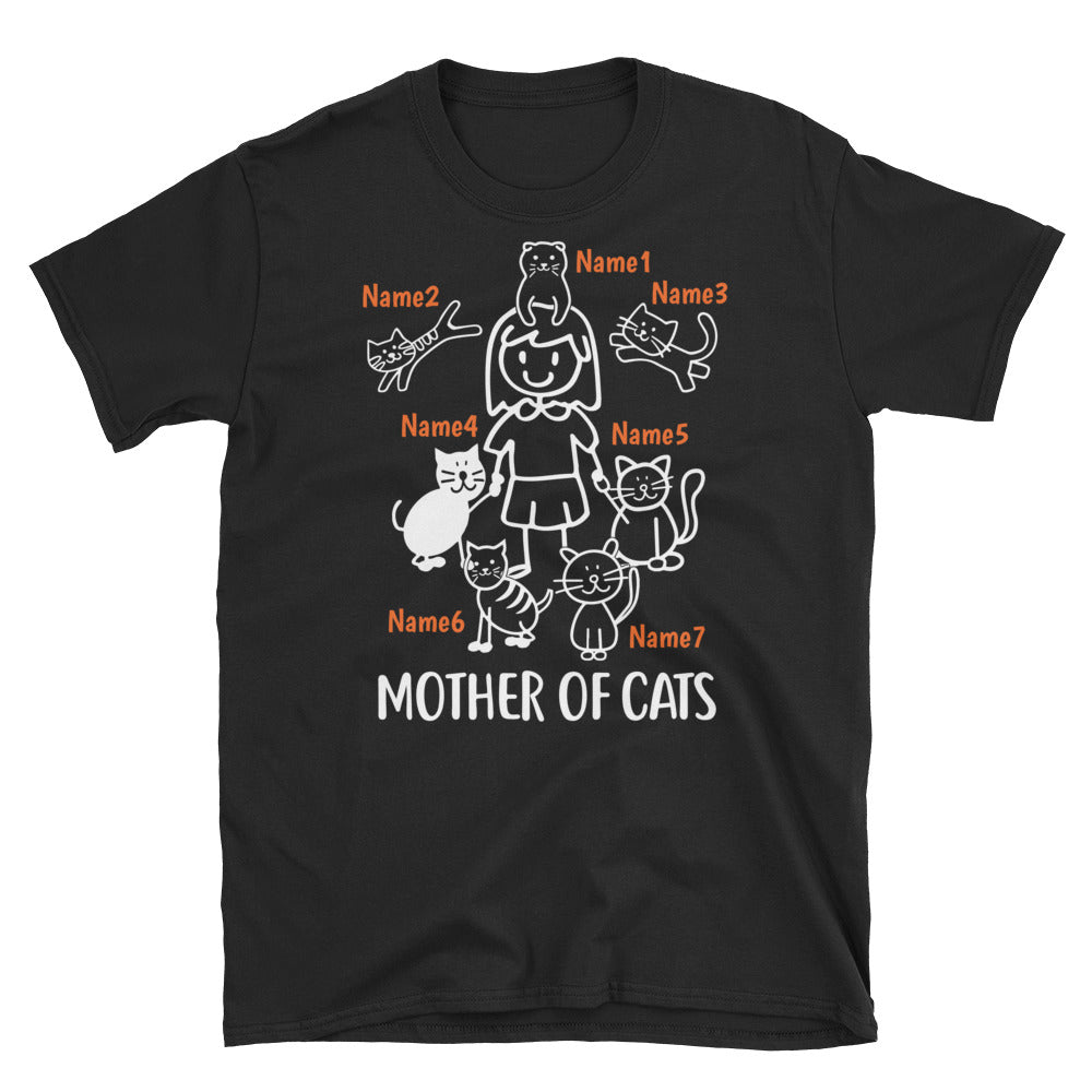 7 Cats - Mother Of Cats Custom T-shirt