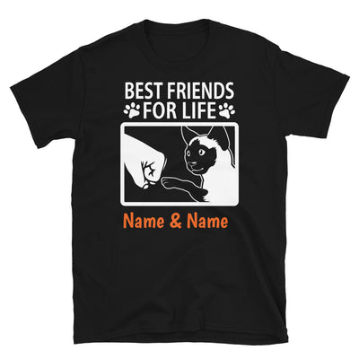 Siamese Cat - Personalized Best Friends T-shirts (Customizable Names)