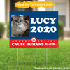 Personalized Cat 2020 with Pet's Name & Photo Yard Sign
