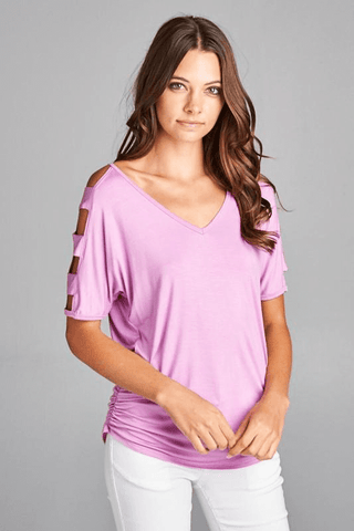 Peek-A-Boo Shoulder Top | Up2Tempo