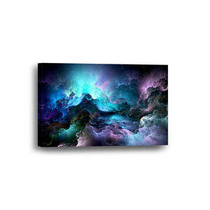 Abstract Space Color Framed Canvas Home Decor Wall Art Multiple Choices 1 3 4 5 Panels