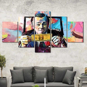 Wolf of Wall Street Framed Canvas Home Decor Wall Art Multiple Choices 1 3 4 5 Panels