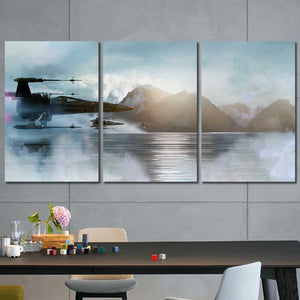 X-Wing Star Wars Framed Canvas Home Decor Wall Art Multiple Choices 1 3 4 5 Panels