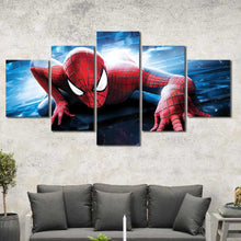Spiderman Boys Room Framed Canvas Home Decor Wall Art Multiple Choices 1 3 4 5 Panels