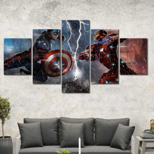 Iron Man VS. Captain America Marvel Framed Canvas Home Decor Wall Art Multiple Choices 1 3 4 5 Panels