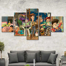 Toy Story Woody Buzz Lightyear Kids Room Framed Canvas Home Decor Wall Art Multiple Choices 1 3 4 5 Panels
