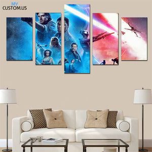 Star Wars The Rise of Skywalker Five Piece Canvas Wall Art Home Decor Multi Panel 5 - The Force Gallery