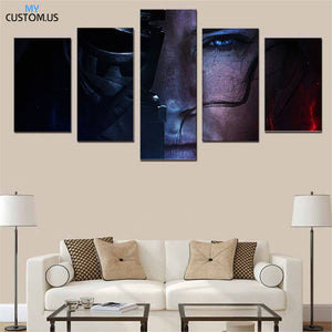 Rey Vs. Kylo Ren Star Wars The Rise of Skywalker Five Piece Canvas Wall Art Home Decor Multi Panel 5 - The Force Gallery