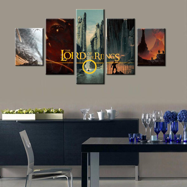 Lord of the Rings Montage Canvas 5 Piece