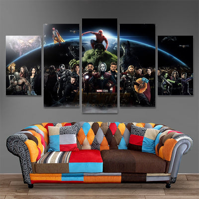 Marvel's Infinity War Five Piece Canvas Home Decor - The Force Gallery