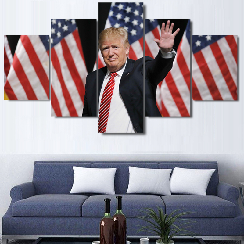 Donald Trump President of The United States of America Five Piece Canvas - The Force Gallery
