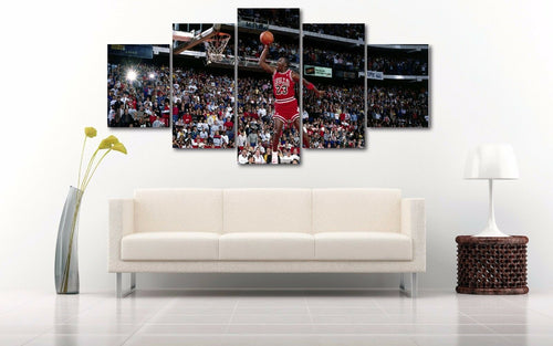 Air Jordan 23 Basketball Five Piece Canvas Wall Art Home Decor Multi Panel 5