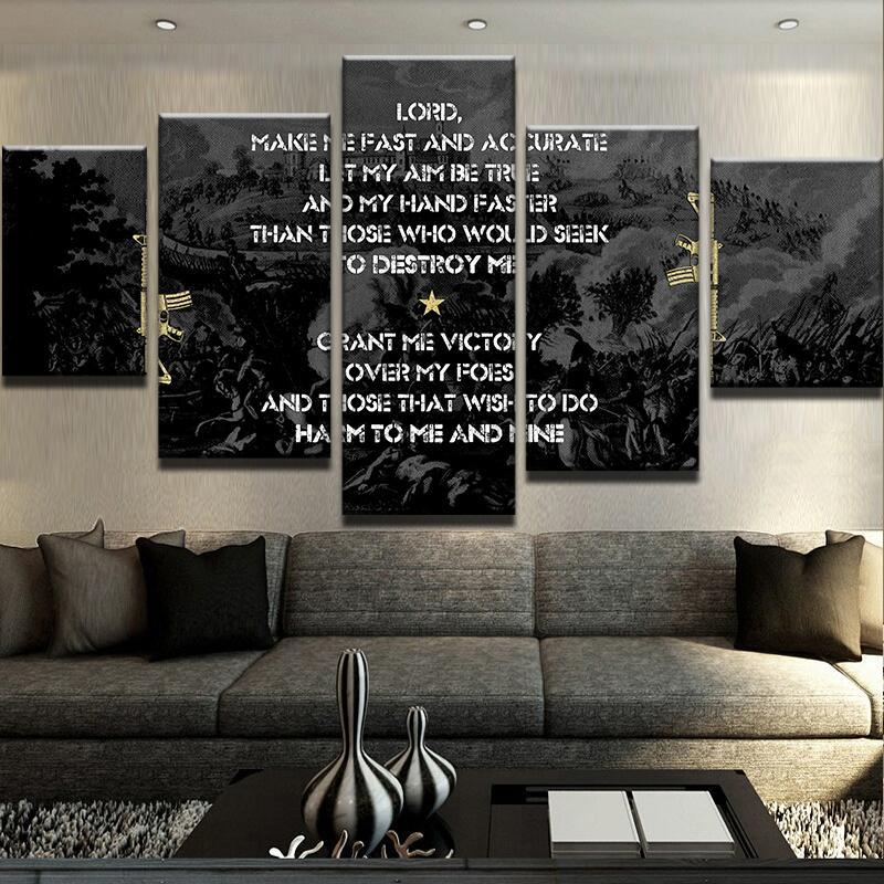 Gun Owner's Prayer Second Amendment Gun Rights Canvas Five Piece - The Force Gallery