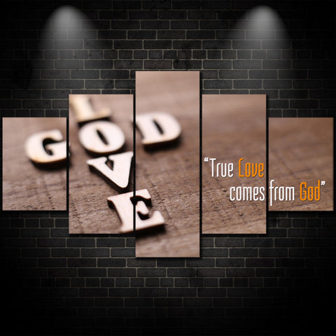 God Shows True Love Christian Framed Canvas - The Force Gallery