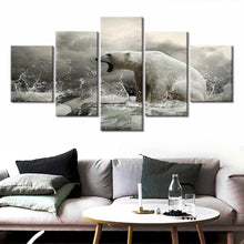 Polar Bear Ice Artic Climate Five Piece Canvas Wall Art Home Decor Multi Panel 5 - The Force Gallery