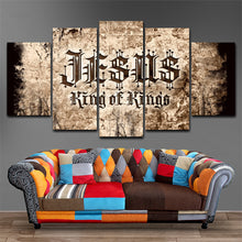 Jesus King of Kings Five Piece Canvas Home Decor - The Force Gallery