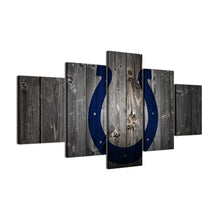 Indianapolis Colts Football Canvas Barnwood Style - The Force Gallery