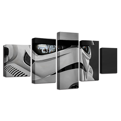 Stormtrooper Reflection Five Piece Canvas - The Force Gallery