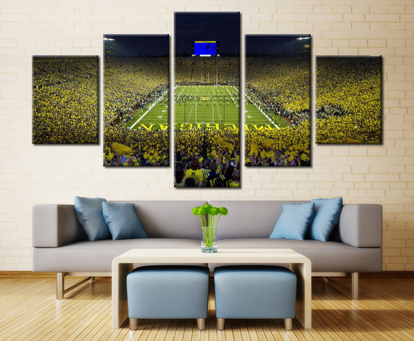 Michigan Wolverines The Big House Stadium Canvas