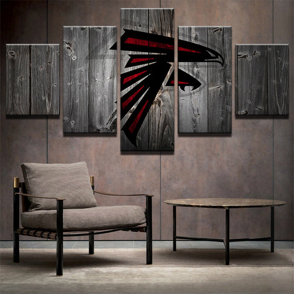 Atlanta Falcons Football Barnwood Style Canvas