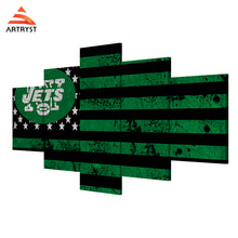 NY Jets American Flag Canvas - The Force Gallery