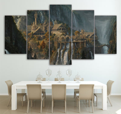 Lord of the Rings Rivendale Canvas - The Force Gallery