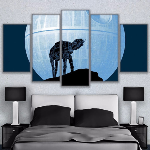 Star Wars AT AT Death Star Moon Canvas